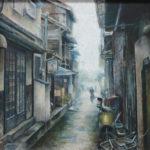 2年 野村かなめさんの作品「雨上がり」 秀作受賞