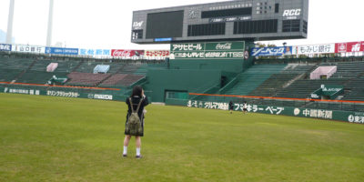 球場の見学をしました