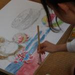 日本画 下図着彩①