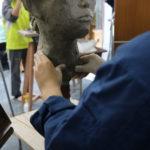 彫塑 自刻像①