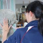 彫塑 自刻像②