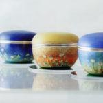 有線・彫金 七宝ボンボニエール「天詰草」(H70×W250×D250)