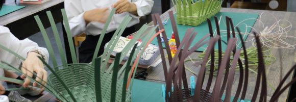 2年生の授業〜世界で一つの手作り籠〜