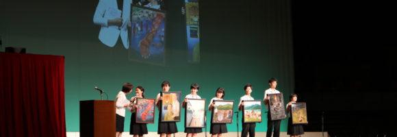 ピースアクションinヒロシマ 「虹のひろば」で原爆の絵の展示