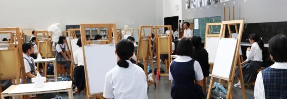 平成31年度 中学生対象美術講座の様子
