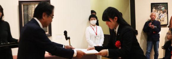 第10回 高校生 絵のまち尾道四季展  表彰式に出席しました。