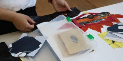 創造表現コース授業レポート「3年生 絵画表現」