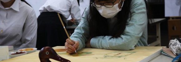 創造表現コース授業レポート「3年 日本画」