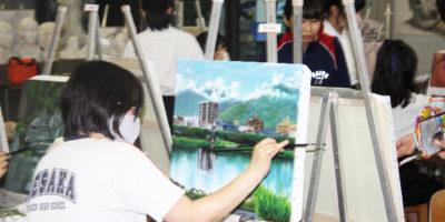 【美術部活動レポート】1年生 油絵の制作