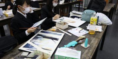 【美術部活動レポート】長期専門講座を行いました