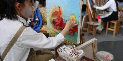 創造表現コース授業レポート「3年 油絵」