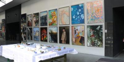 美術部文化祭展示を行いました